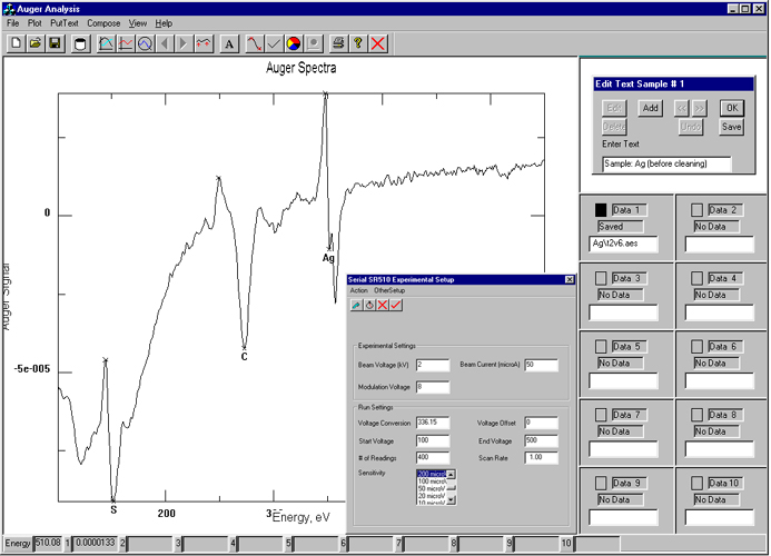 Data Acquisition Software : Analysis software k technology